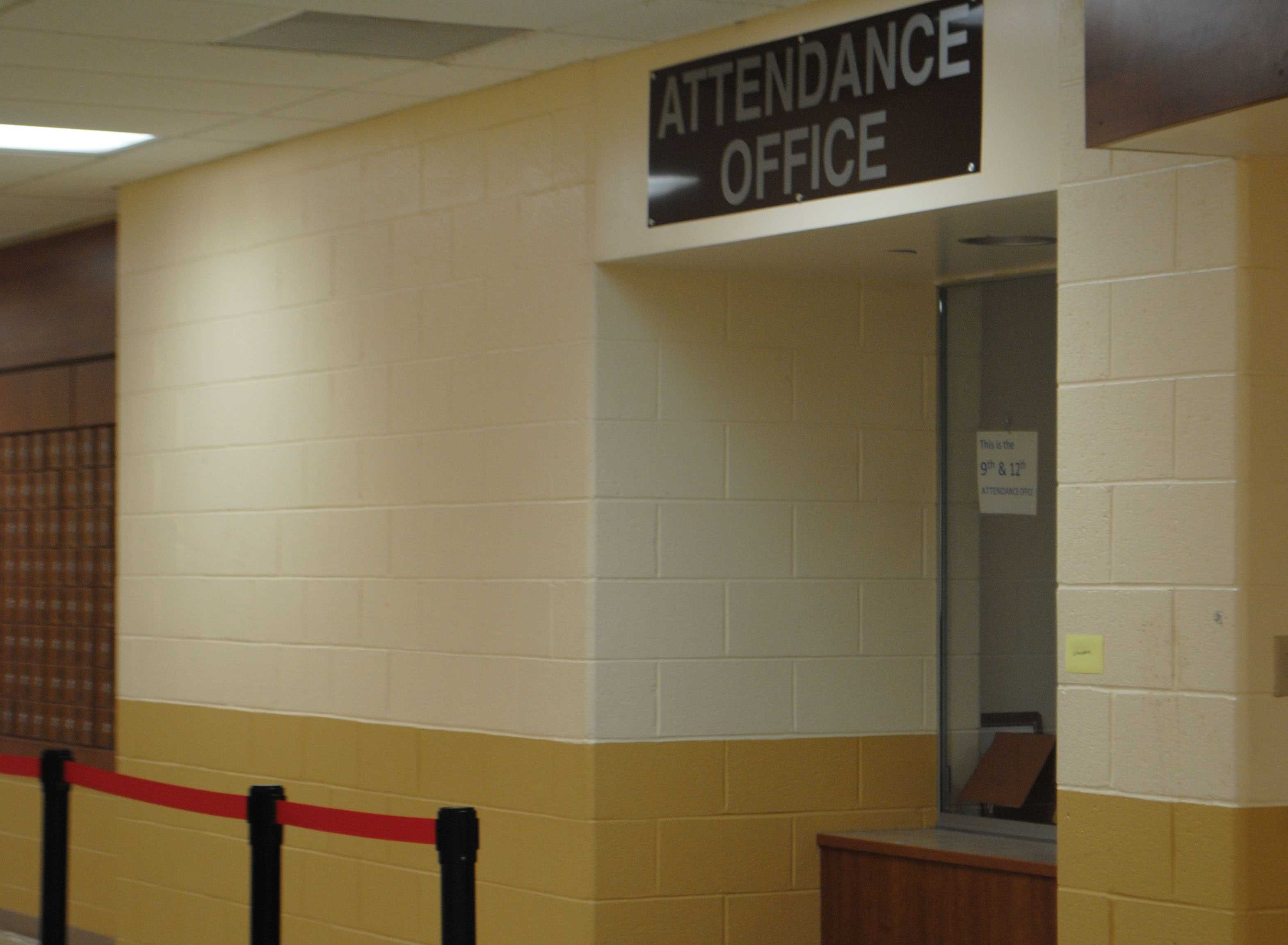 Students who are late are required to sign in at the attendance office.