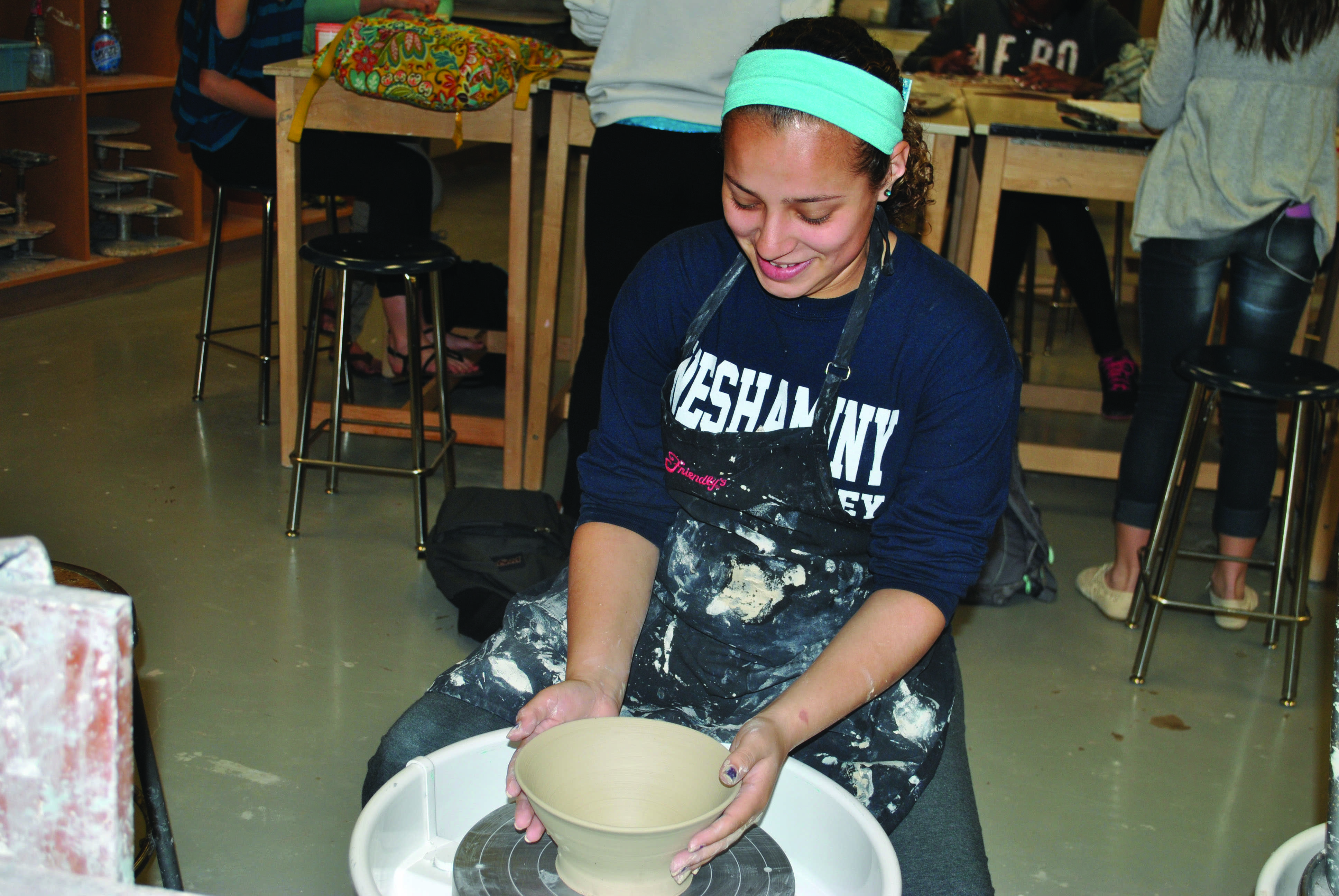 Ceramics student molds the path to her future