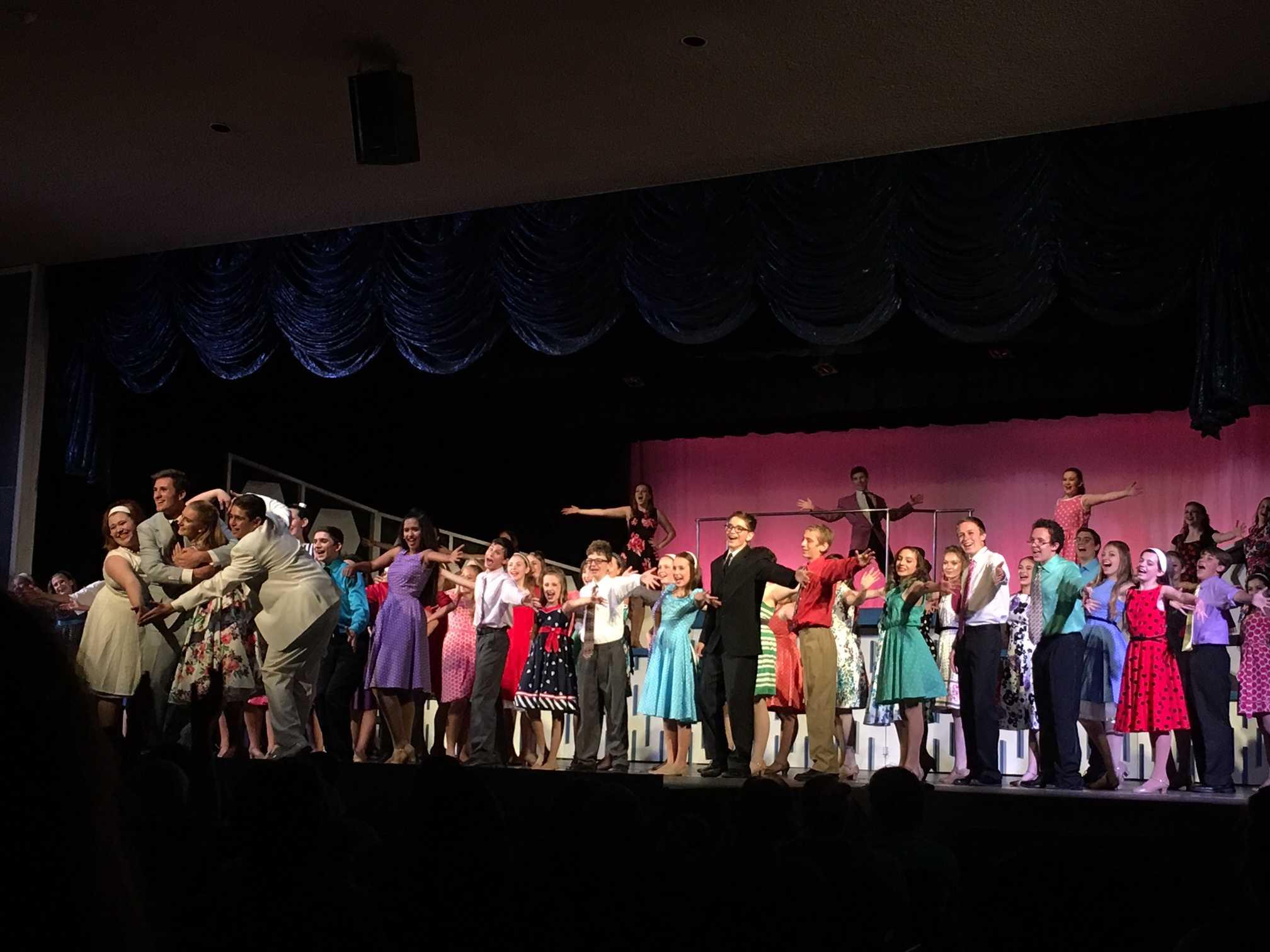 The cast of Neshaminy Summer Stock performed