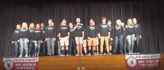 The select choir recently won their competition and got to preform as the opening act for the acapella group, Vocalosity.