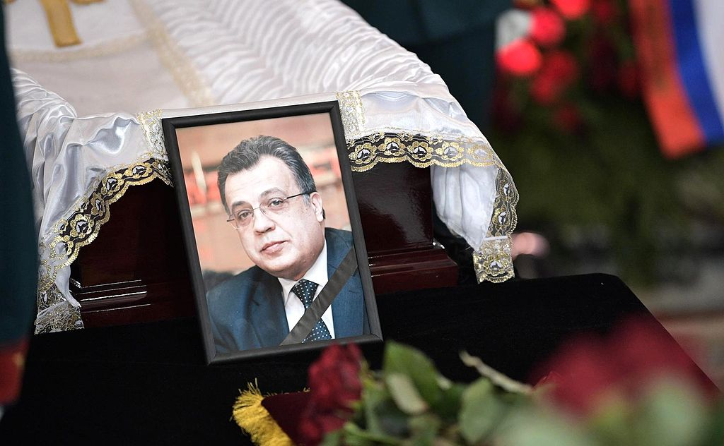 Russian ambassador Andrei Karlov was fatally shot on Dec. 19.