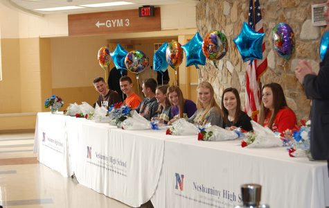 Student athletes sign national letters of intent on Feb. 3.