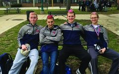 Swim team dyes hair preceding path to championships