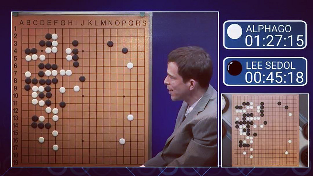 World Go Champion Lee Sedol faced off against Google's AlphaGo. Sedol lost all but one of his matches.