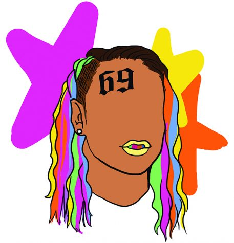 Illustration of 6ix9ine