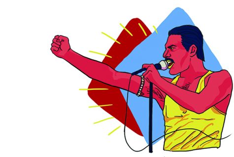 Illustration of Freddie Mercury