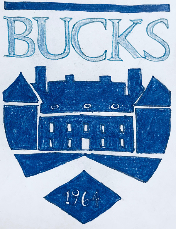A+student+drawn+logo+of+Bucks+County+Community+College.