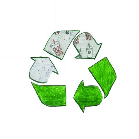 Recycling logo drawn by Brynn Simon